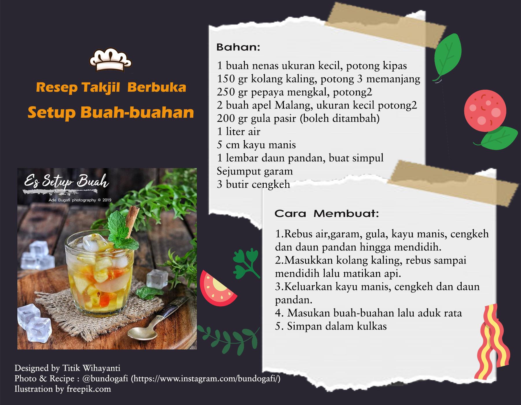 menu berbuka setup buah
